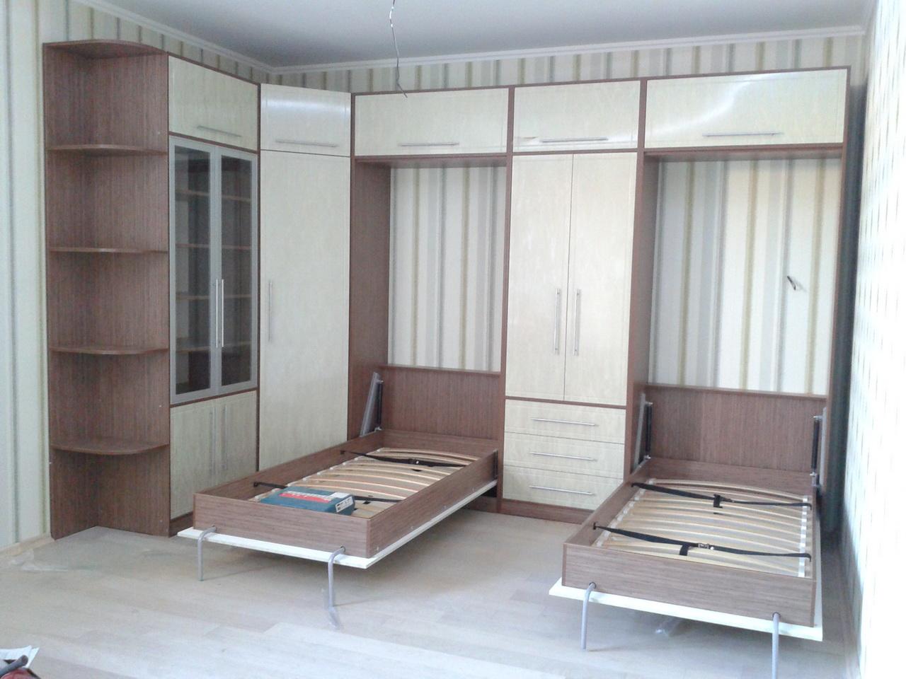 фото шкафы с подъемной кроватью